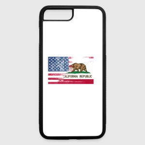 California American Flag Fusion - iPhone 7 Plus/8 Plus Rubber Case