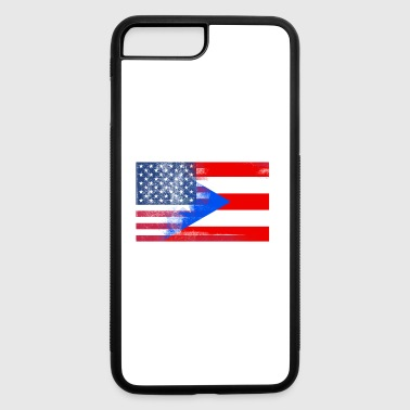 Puerto Rico American Flag Fusion - iPhone 7 Plus/8 Plus Rubber Case