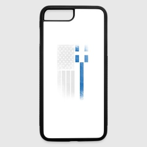 Greek American Flag - Half Greek Half American - iPhone 7 Plus/8 Plus Rubber Case