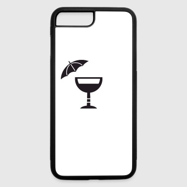 Umbrella Drink Icon - iPhone 7 Plus/8 Plus Rubber Case