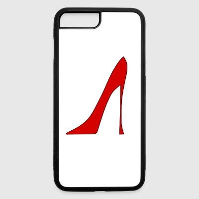 red high heel 1 - iPhone 7 Plus/8 Plus Rubber Case