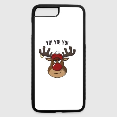 Cool Gangsta Rudolph Yo Yo Yo Christmas Homie Gift - iPhone 7 Plus/8 Plus Rubber Case