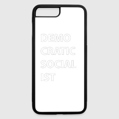 Democratic Socialist Block Letter Tee by DSA GearD - iPhone 7 Plus/8 Plus Rubber Case