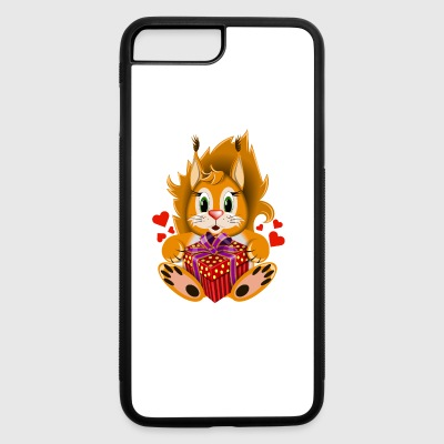 squirrel-Valentines Day-gift-wildlife-heart - iPhone 7 Plus/8 Plus Rubber Case