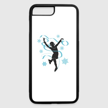 Ice princess is figure dancing and skating - iPhone 7 Plus/8 Plus Rubber Case