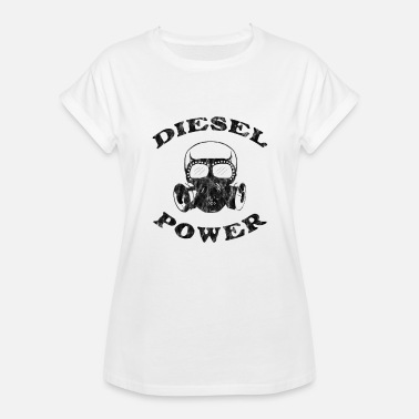 Skull Offroad Diesel Power Gas Mask Skull Truck Offroad Black - Women's Relaxed Fit T-Shirt