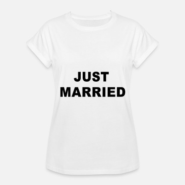 Trucker Couples Just Married Wifey Couple Gift - Women's Relaxed Fit T-Shirt