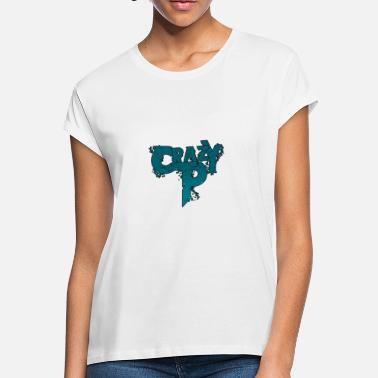 Crazy Logo Crazy P Logo Zombie Teal - Women's Loose Fit T-Shirt