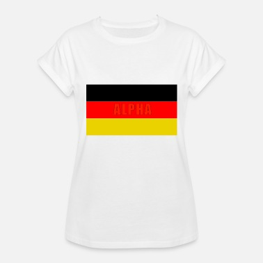 Flag Alpha German Alpha red - Women's Relaxed Fit T-Shirt