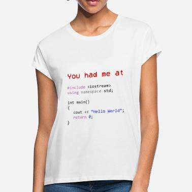 Computer Hello world First program in Computer science - Women's Loose Fit T-Shirt