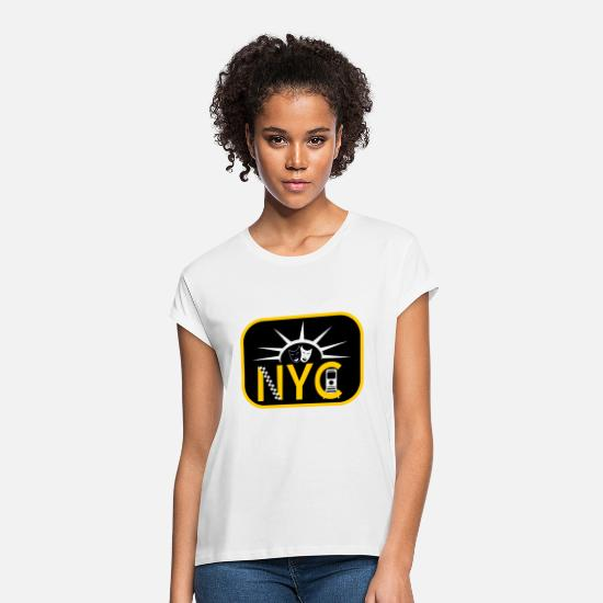 Subway T-Shirts - New York City - Women's Loose Fit T-Shirt white