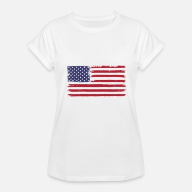 4th of July American Flag Design - Women's Relaxed Fit T-Shirt