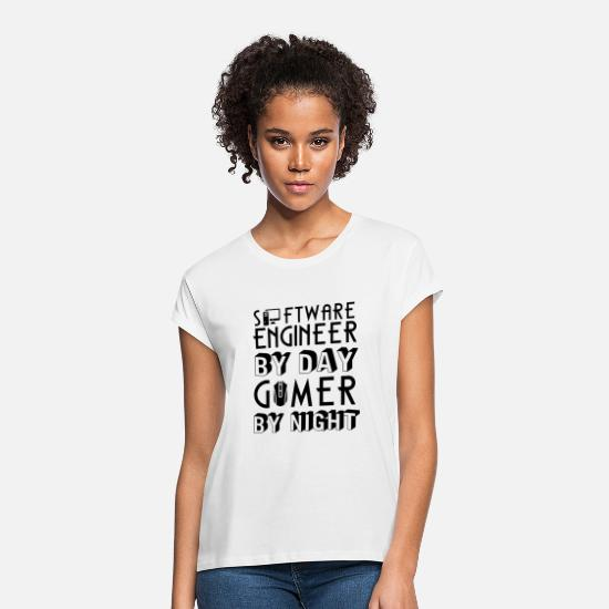 Information T-Shirts - Programmer and Gamer Shirt - Women's Loose Fit T-Shirt white