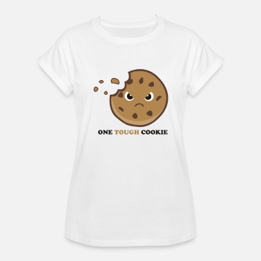 Tough Symbol ONE TOUGH Cookie Funny T Shirt - Women's Relaxed Fit T-Shirt