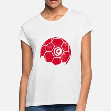c88a77b4c45 Tunisia Soccer Tunisia Soccer Football Ball - Women  39 s Loose Fit T-