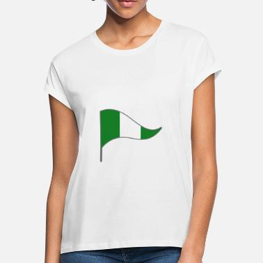 Abuja & Nigeria Abuja Africa Flag Banner Flags Ensigns - Women's Loose Fit T-Shirt