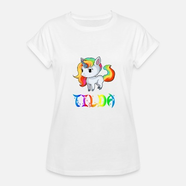 Tilda Tilda Unicorn - Women's Relaxed Fit T-Shirt