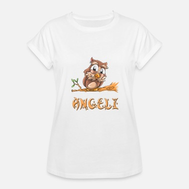 Ang Angeli Owl - Women's Relaxed Fit T-Shirt