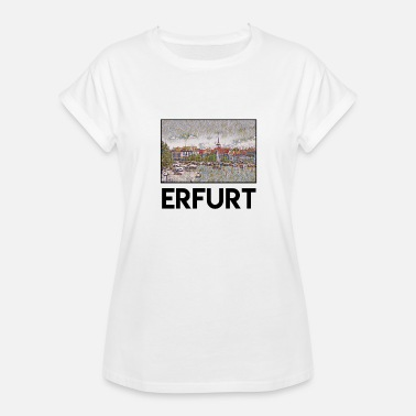 Erfurt Erfurt City Skyline Sights Silhouette Landmark - Women's Relaxed Fit T-Shirt
