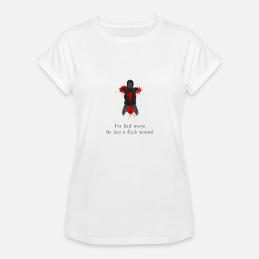 Monty Python Holy Grail Monty Python - Just a Flesh Wound - Women's Relaxed Fit T-Shirt