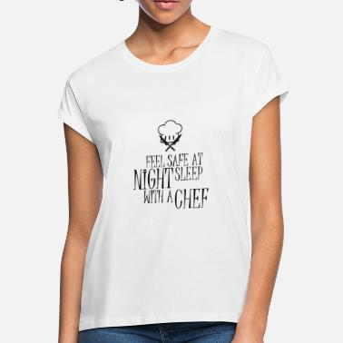 Private Chef feel safe at night funny design present ideas - Women's Loose Fit T-Shirt