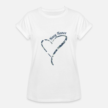 Camouflage Kids Proud Navy Fiance - Navy Fiance Camouflage - Women's Relaxed Fit T-Shirt