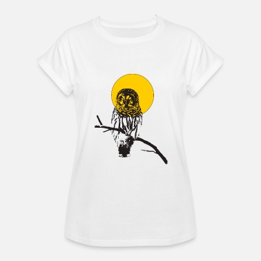 owl and moon - Women's Relaxed Fit T-Shirt