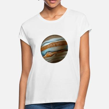Funny Space Cartoons-funny-planet-Jupiter-space - Women's Loose Fit T-Shirt