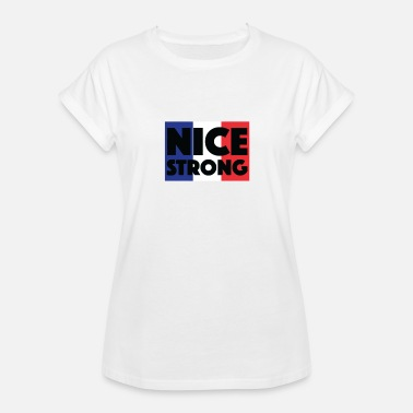 Nice Logo nice strong - Women's Relaxed Fit T-Shirt