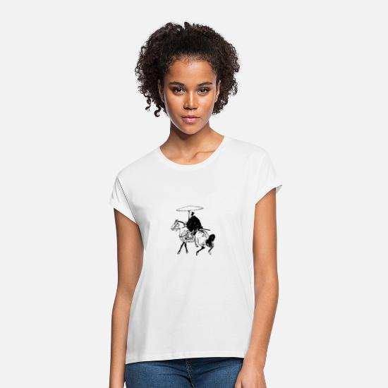 New T-Shirts - The Horseman - Women's Loose Fit T-Shirt white
