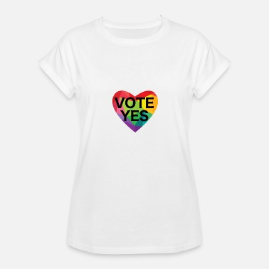 Vote For Love Love Black Vote Yes - Women's Relaxed Fit T-Shirt