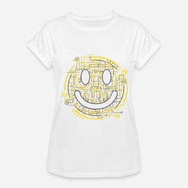 Positively Electric Smiley Face - Women's Relaxed Fit T-Shirt