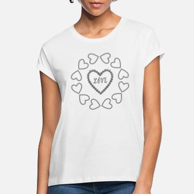 Venus Beautiful LOVE heart circle for lovers - Women's Loose Fit T-Shirt