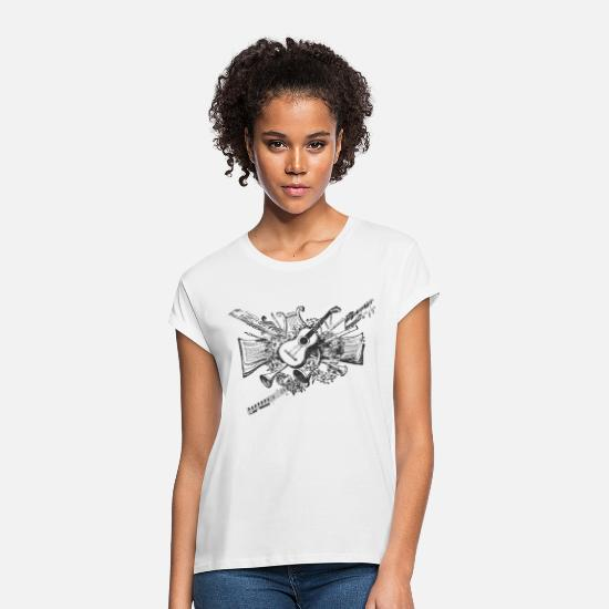 Instrument T-Shirts - musical instruments - Women's Loose Fit T-Shirt white