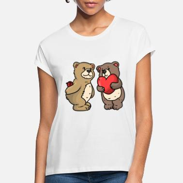 Teddy Bear Teddy Bear loves - Women's Loose Fit T-Shirt