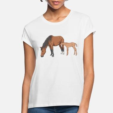 Mare mare & foal - Women's Loose Fit T-Shirt