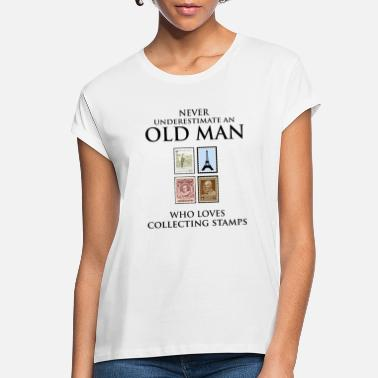 Post Stamp Collecting Collector Dad Grandpa Fathers Day - Women's Loose Fit T-Shirt