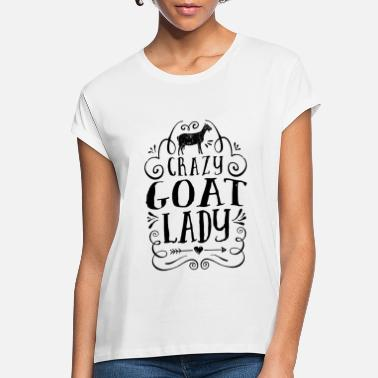 Goat Crazy Goat Lady T Shirt Funny Goats Lovers Farm - Women's Loose Fit T-Shirt