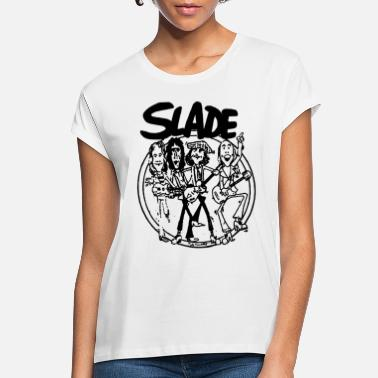 Glam Rock SLADE BAND GLAM HARD ROCK 70s RETRO CARTOON VINTAG - Women's Loose Fit T-Shirt