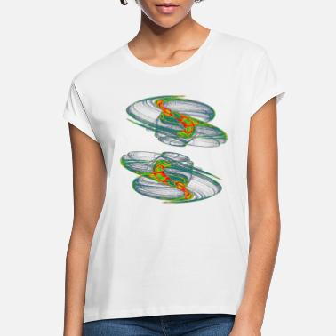 Mathematics Watercolor art graphic painting picture 5917nspc - Women's Loose Fit T-Shirt