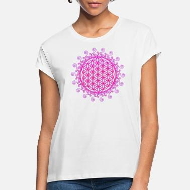 Spiritual FLOWER OF LIFE, SPIRITUAL, SACRED GEOMETRY, YOGA - Women's Loose Fit T-Shirt