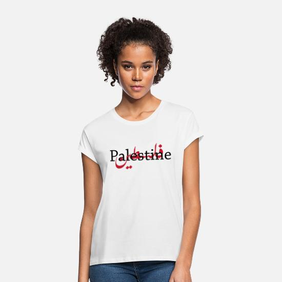 Arabic T-Shirts - Palestine - Women's Loose Fit T-Shirt white