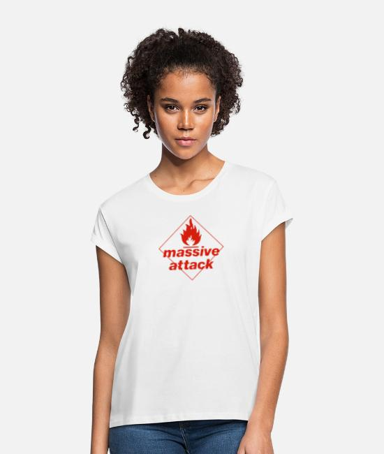 Movie T-Shirts - Massive Attack - Women's Loose Fit T-Shirt white