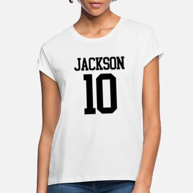 Jersey Number Jackson Jersey Number (black) - Women's Loose Fit T-Shirt