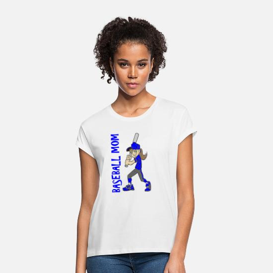 Mother T-Shirts - BASEBALL MOM - Women's Loose Fit T-Shirt white