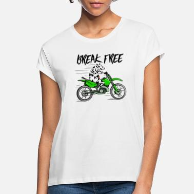 Motorcycles Cow Riding a motorcycle - Women's Loose Fit T-Shirt