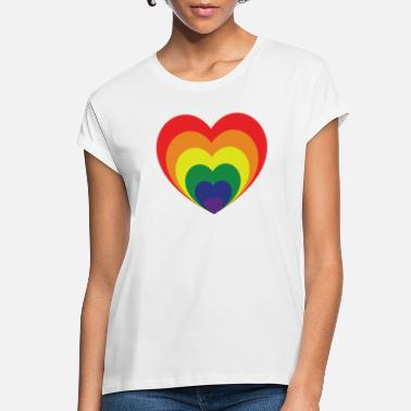 Rainbow Heart Rainbow heart - Women's Loose Fit T-Shirt