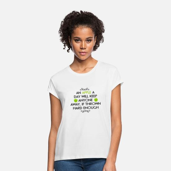 Apple T-Shirts - An Apple A Day - Women's Loose Fit T-Shirt white