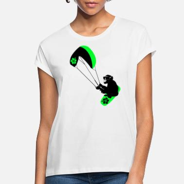 Kiteboard kiteboarder monkey - Women's Loose Fit T-Shirt