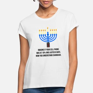 Cell Miracle of Chanukah Hanukkah Menorah Funny - Women's Loose Fit T-Shirt